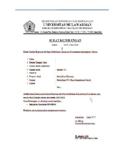 Contoh Surat Keterangan Aktif Kuliah Dalam Bahasa Inggris